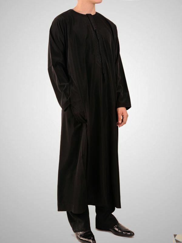 Kamis cravate homme noir 24 90 - Cravate noire homme ...